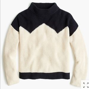 JCrew The reeds Ski Sweater: Navy and Cream